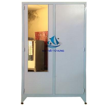 Tủ sắt áo quần sơn tĩnh điện 2 cửa