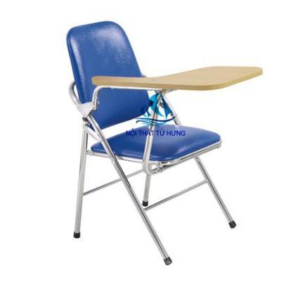 Ghế xếp liền bàn lưng lớn chất liệu inox