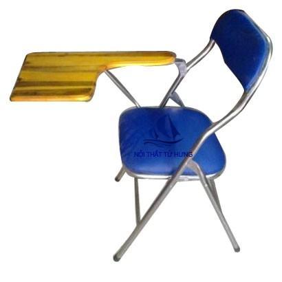 Ghế xếp liền bàn lưng nhỏ inox