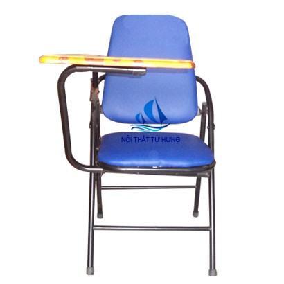 Ghế xếp liền bàn lưng lớn sắt sơn
