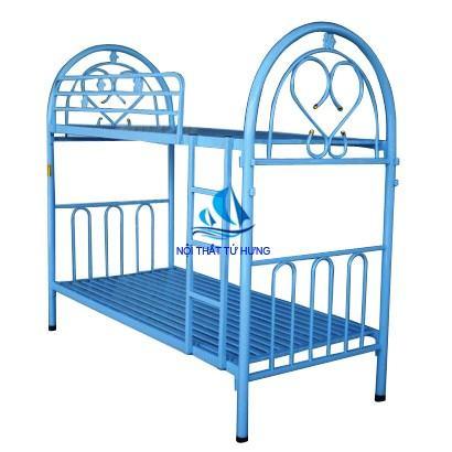 Giường 2 tầng sắt tiện ích